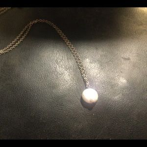 Vintage Sterling Silver Pearl 1970s Necklace